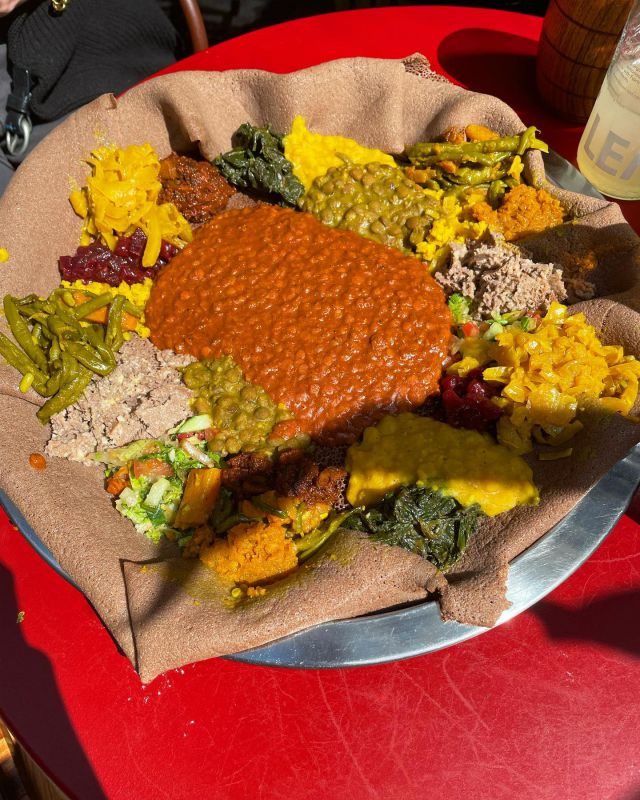 Vegan Ethiopian by @bezaethio in Elephant and Castle   This was a share for two